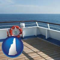 new-hampshire map icon and a cruise ship deck