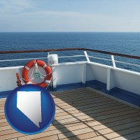 nevada map icon and a cruise ship deck