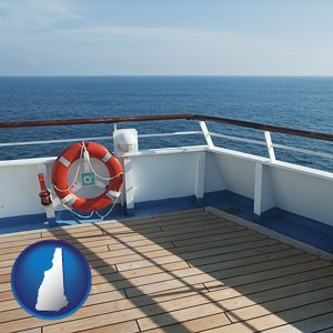 a cruise ship deck - with New Hampshire icon