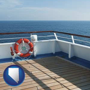 a cruise ship deck - with Nevada icon