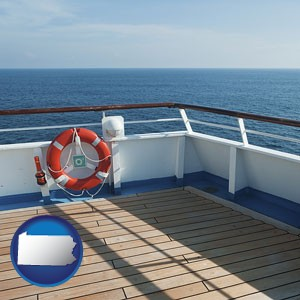 a cruise ship deck - with Pennsylvania icon