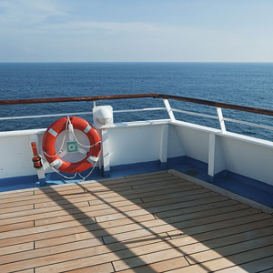 a cruise ship deck